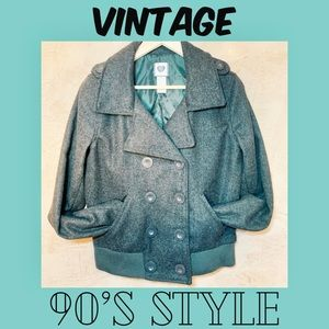 Vintage 90's Style Wool Button-down Jacket